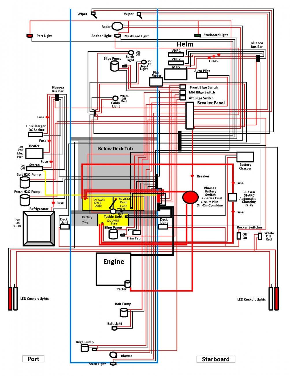dc wiring diagram shamrock boat owners 39 club. Black Bedroom Furniture Sets. Home Design Ideas