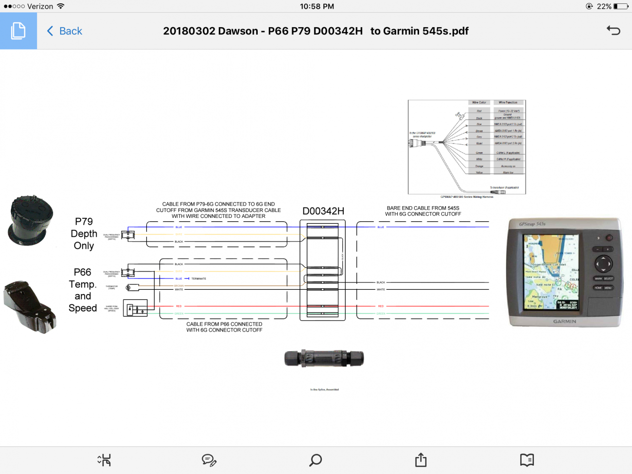 Garmin Wiring Diagram For P79 Depth Finder Transducer Discussion Page 2 Shamrock Boat Owners Club