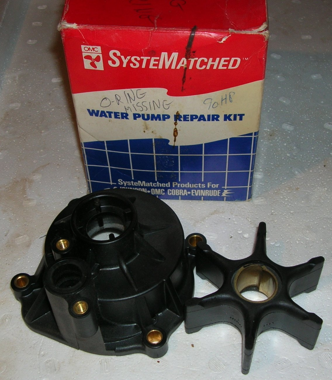Johnson Evinrude  85-150, V4 motor water pump impeller and housing Just $50. .JPG